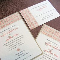 Stationery, red, gold, invitation, Invitations, Asian, Pattern, Frame, Ethnic, Moroccan, Border, Tile, Mew paper arts