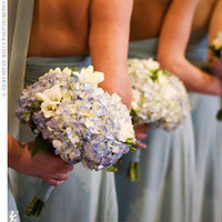Flowers & Decor, Bridesmaids, Bridesmaids Dresses, Fashion, white, blue, Bride Bouquets, Bridesmaid Bouquets, Flowers, Bouquet, Hydrangeas, Flower Wedding Dresses