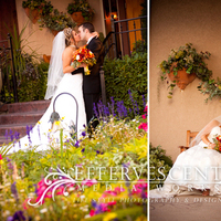 Reception, Flowers & Decor, yellow, orange, pink, red, Bride Bouquets, Bride, Flowers, Groom, And, Elegant, Colorful, Pictures, Portraiture, Kissing, Formal, Bridals, Effervescent media works, Flowerbed