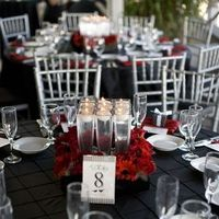 Reception, Flowers & Decor, red, black, silver, Flowers