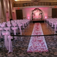 Ceremony, Flowers & Decor, pink, black, silver, Ceremony Flowers, Aisle Decor, Tables & Seating, Flowers, Rose, Chairs, Ribbon, Petals, Aisle, Runner, Etc, Ties, Chivari, Soiree