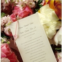 DIY, Flowers & Decor, Decor, Stationery, pink, brown, Invitations, Flowers, Ribbon, Etc, Soiree