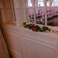 Flowers & Decor, pink, black, silver, Flowers, Rose, Window, Decorations, Mirror, Etc, Soiree