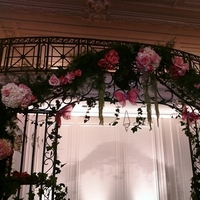 Ceremony, Flowers & Decor, Decor, pink, black, silver, Ceremony Flowers, Candles, Flowers, Roses, Hanging, Hydrangea, Butterflies, Etc, Ivy, Soiree