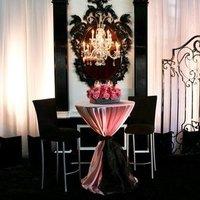 Reception, Flowers & Decor, pink, black, silver