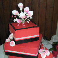 Cakes, pink, cake, Square Wedding Cakes, Square, Calla, Bellas