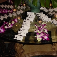 Reception, Flowers & Decor, ivory, purple, black, silver, Escort, Orchids, Card, Etc, Dendrobium, Soiree
