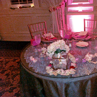 Reception, Flowers & Decor, pink, black, silver, Lighting, Table, Sweetheart, Petals, Floating, Linens, Glass, Etc, Crystals, Dendrobium, Soiree, Hyrdangea