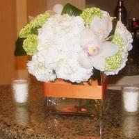 Ceremony, Reception, Flowers & Decor, white, orange, green, Ceremony Flowers, Centerpieces, Centerpiece, Innovative events