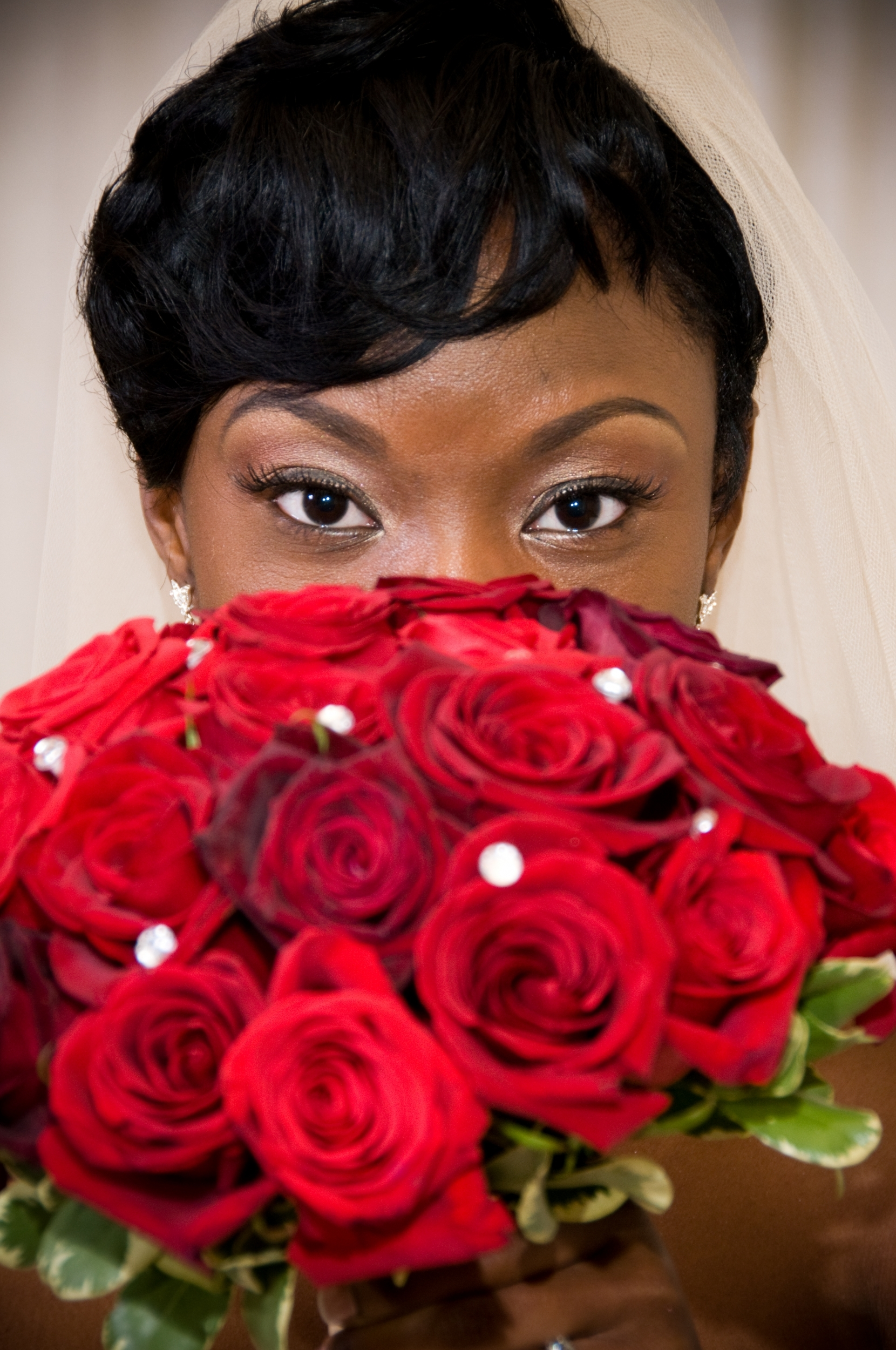Beauty, Ceremony, Flowers & Decor, red, purple, black, silver, Makeup, Ceremony Flowers, Bride Bouquets, Bride, Flowers, Roses, Bouquet, Etc, Soiree
