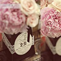 Reception, Flowers & Decor, pink, black, Flowers, Your wedding by jen