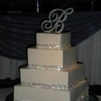Reception, Flowers & Decor, Cakes, white, silver, cake