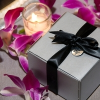 Reception, Flowers & Decor, Favors & Gifts, purple, black, silver, Favors, Orchid, Candy, Box, You, Thank, Decorations, Etc, Dendrobiums, Soiree