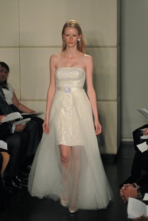 Wedding Dresses, Fashion, dress, Wedding, Short, 2, Convertible, Piece, Badgley, Mischka, Short Wedding Dresses