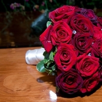 Ceremony, Flowers & Decor, red, purple, black, silver, Ceremony Flowers, Bride Bouquets, Bride, Flowers, Roses, Bouquet, Etc, Soiree