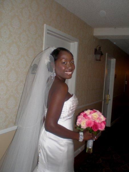 Flowers & Decor, Wedding Dresses, Veils, Fashion, pink, dress, Flowers, Veil, And, Flower Wedding Dresses