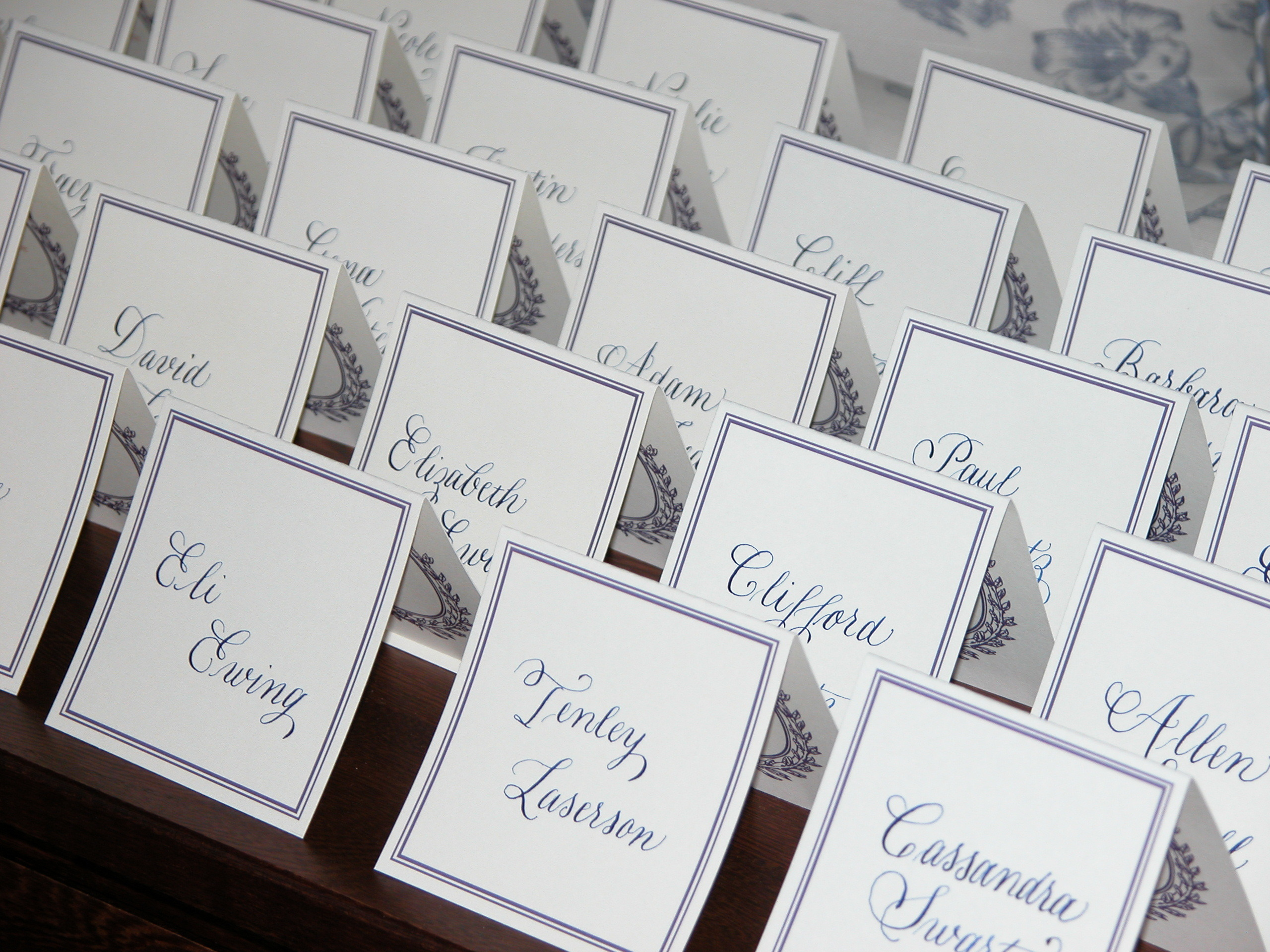 Inspiration, Reception, Flowers & Decor, Calligraphy, Stationery, white, blue, brown, black, silver, Invitations, Cards, Board, Place, Connecticut calligraphy