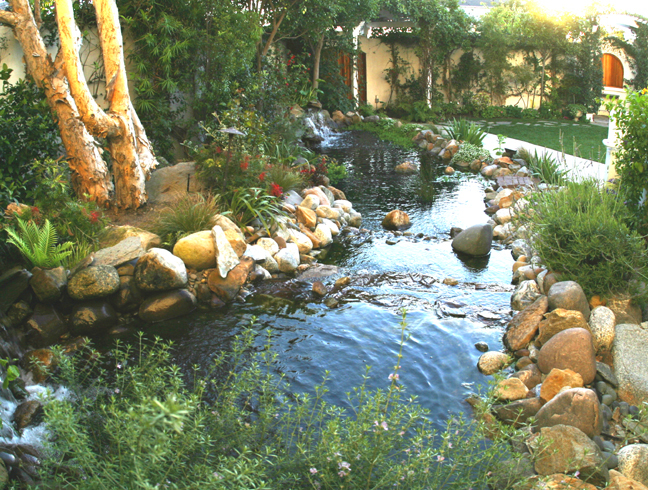Ceremony, Flowers & Decor, Fountain, Waterfall, Pond, Verandas, Koi
