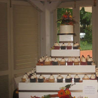 Cakes, white, brown, cake, Cupcakes, Wedding, llc, Celebrations by denise
