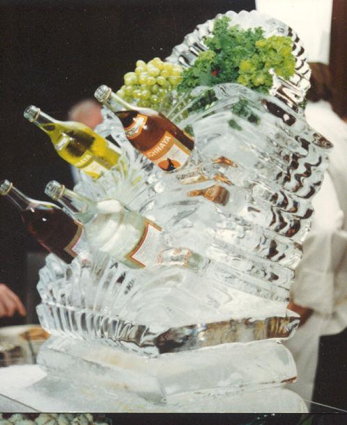 Reception, Flowers & Decor, pink, Ice, La venta inn, Bar, Cocktails, Wine, Sculture
