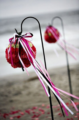 Ceremony, Flowers & Decor, pink, Ceremony Flowers, Flowers, Isle, Ideas, Decorations, Hooks, Shepards