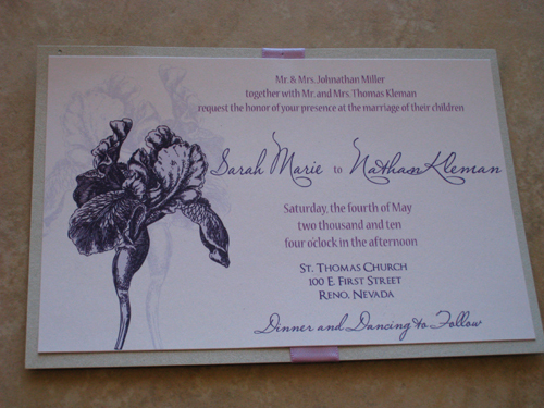 Stationery, Invitations, Iris, Metallic, The stylish scribe