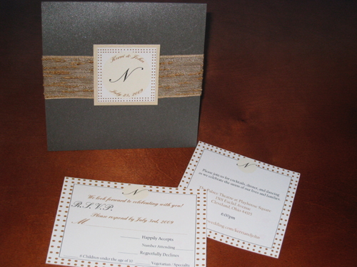 Stationery, Invitations, Ribbon, Dots, Polka, The stylish scribe