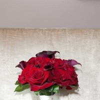 Flowers & Decor, white, red, silver, Bride Bouquets, Flowers, Bouquet, The ideal day
