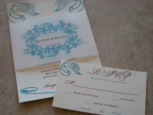 Stationery, Invitations, Band, Vellum, The stylish scribe