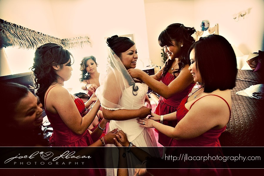 red, Bridesmaids, Bride, Bridemaids, Getting, Ready, Joel llacar photography, Fashion, Bridesmaids Dresses