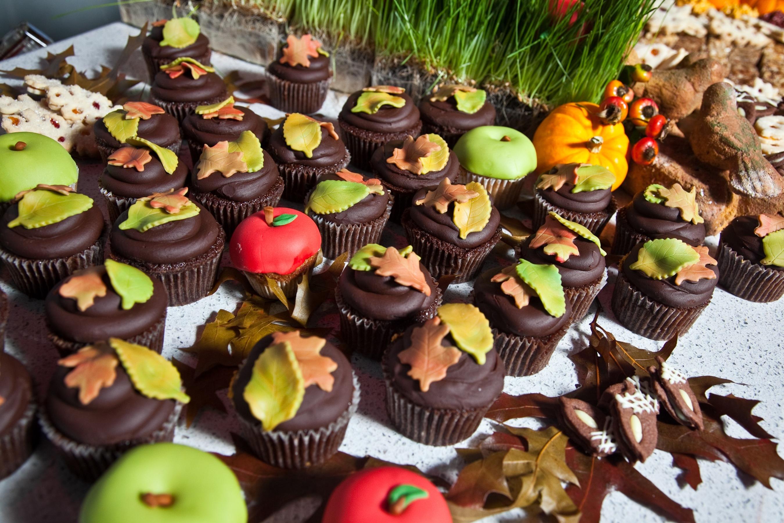 Fall, Cupcakes, Dessert, Chocolate, Buffet