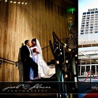 Reception, Flowers & Decor, white, red, black, Bride, Groom, Wedding, Hotel, Joel llacar photography