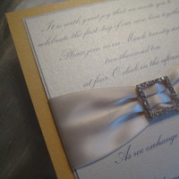 Stationery, white, yellow, silver, Invitations, Calla graphics