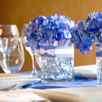 Reception, Flowers & Decor, blue, Centerpieces, Flowers, Centerpiece, So chic events