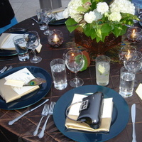 Reception, Flowers & Decor, blue, green, brown, gold, Tables & Seating, Tables