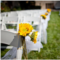 Ceremony, Flowers & Decor, Decor, white, yellow, Aisle, Sunflower, In the clouds events