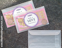 Favors & Gifts, Favors, Ticket, Wedding, Do, It, Yourself, Blissweddingsmarketcom, Lottery
