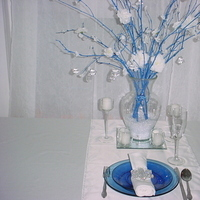 Inspiration, Reception, Flowers & Decor, white, blue, silver, Winter, Flowers, Board, Wonderland, Creative elegance weddings