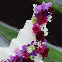 Flowers & Decor, Cakes, pink, purple, cake, Flowers, Amazing weddings by pfeiffer event planning