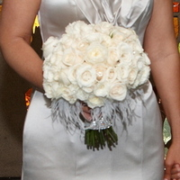 Beauty, Flowers & Decor, white, Feathers, Bride Bouquets, Flowers, Bouquet, Bridal, Botanica floral designs, Ostrich