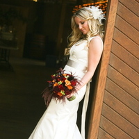 Flowers & Decor, Wedding Dresses, Fashion, orange, red, green, dress, Bride Bouquets, Fall, Flowers, Fall Wedding Flowers & Decor, Bouquet, Calla, Lilies, Bridal, Botanica floral designs, Flower Wedding Dresses, Fall Wedding Dresses