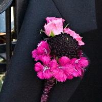 Flowers & Decor, pink, black, Boutonnieres, Flowers, Boutonniere, Botanica floral designs