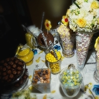 Reception, Flowers & Decor, Favors & Gifts, white, yellow, black, favor, Candy, Station, Amazing weddings by pfeiffer event planning