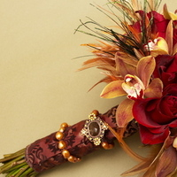 Beauty, Flowers & Decor, red, brown, Feathers, Bride Bouquets, Flowers, Bouquet, Bridal, Orchids, Botanica floral designs