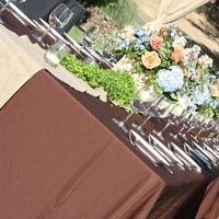 Reception, Flowers & Decor, orange, blue, green, Centerpieces, Tables & Seating, And, Peach, Tables, Botanica floral designs, Kings