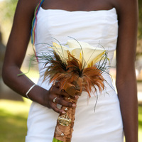 Beauty, Flowers & Decor, white, brown, Feathers, Bride Bouquets, Bridesmaid Bouquets, Flowers, Bouquet, Bridesmaid, Calla, Lilies, Bridal, Bouquets, Botanica floral designs