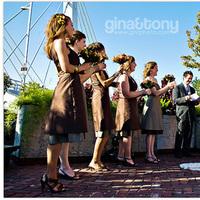 Ceremony, Flowers & Decor, Bridesmaids, Bridesmaids Dresses, Fashion, orange, brown, Ceremony Flowers, Bridesmaid Bouquets, Flowers, Ginatonyphotographers, Flower Wedding Dresses