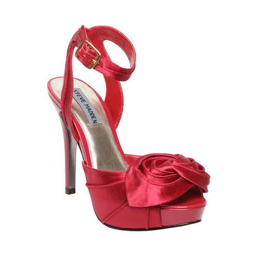 red, Sandals, Platform