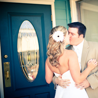 Beauty, Flowers & Decor, white, Bride Bouquets, Bride, Flowers, Portraits, Groom, Hair, And, Revert photo