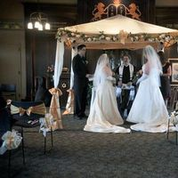 Ceremony, DIY, Flowers & Decor, ivory, venue, Wedding, Chuppah, Jewish, Temple shir tikvah